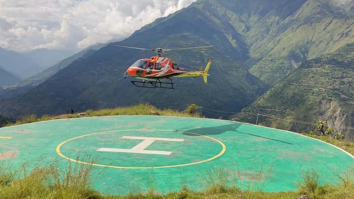 ढुंगाले च्याप्दा घाइते भएका खड्काको हेलिकोप्टर मार्फत उद्धार